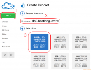 digitalocean - create droplet part 1